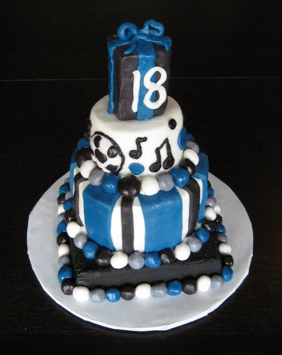 Cake Decorating Ideas For 18 Year Old Boy : Birthday Cake for Young Guys: Birthday Cake 18 Year Old ...