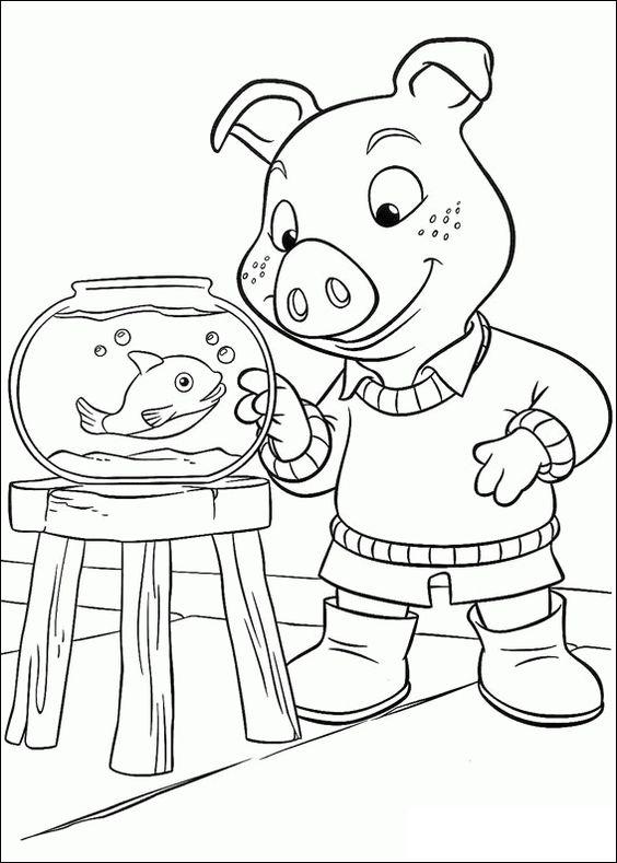 Disegni da colorare per bambini. Colorare e stampa Jakers, Le avventure di Piggley Winks 31