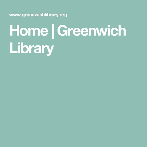 Home | Greenwich Library