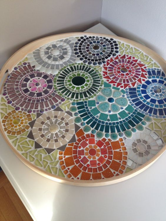 Mosaic Design Bowl Handcrafted Mosaic Tray Mosaic Art Home Decoration
