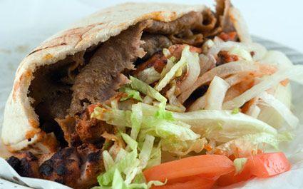 Kebab plato típico de Turquía