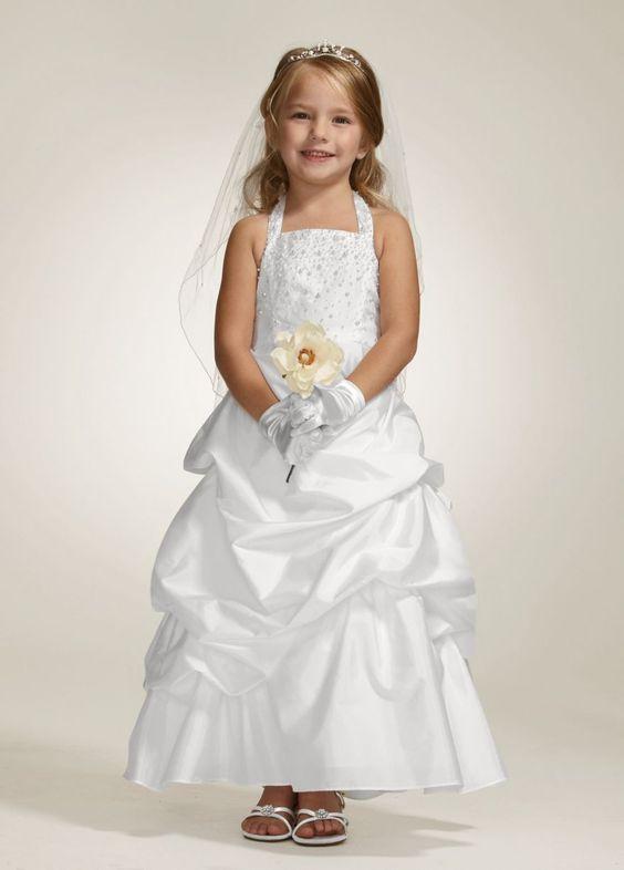 Taffeta Halter Ball Gown with Pick Up Skirt - David's Bridal