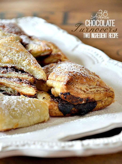 Recipe: Easy Two Ingredient Chocolate Turnovers