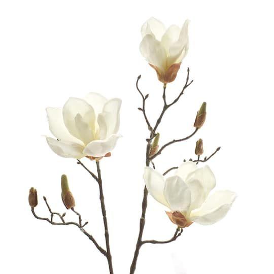 Find The White Magnolia Branch Stem By Ashland At Michaels In 2020 Magnolia Branch White Magnolia Magnolia Tattoo
