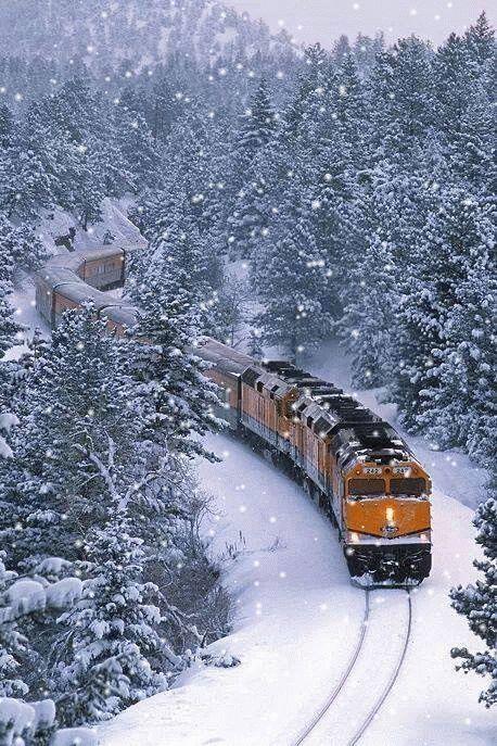 Quel beau voyage sous la neige ... Je vous emmène !