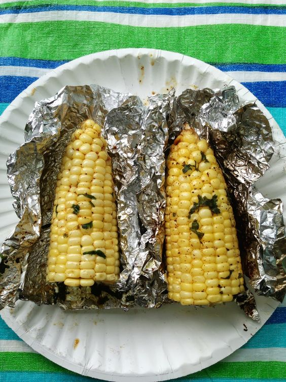 Roasted Corn with Light Cilantro Butter