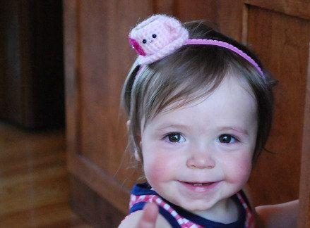 Tea cup baby headband