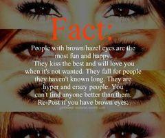 Yeah for brown eyes