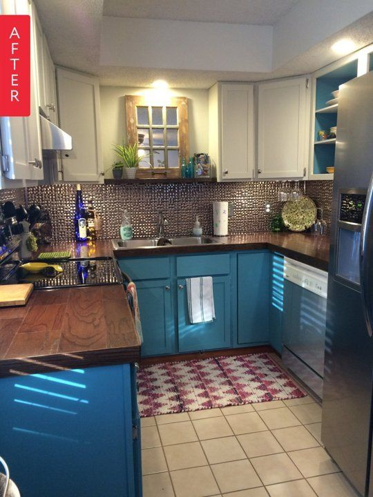 Before After A Townhouse Kitchen Brightens Up