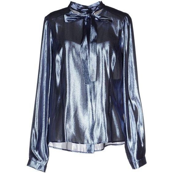 Veronique Branquinho Blouse ($132) ❤ liked on Polyvore featuring tops, blouses, blue, long sleeve blouse, veronique branquinho, long sleeve tops, blue long sleeve top and blue blouse