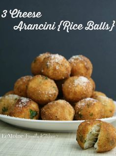 3 Cheese Arancini {Rice Balls} | LeMoine Family Kitchen . These rice balls were a staple in our Italian home growing up.