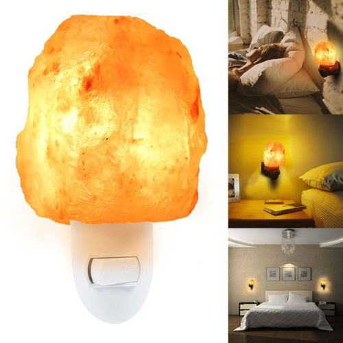 Natural Himalayan Salt Crystal Rock Night Light Hand Carved Crystal Wall Lamp Ebay Crystal Wall Himalayan Salt Crystals Wall Lamp