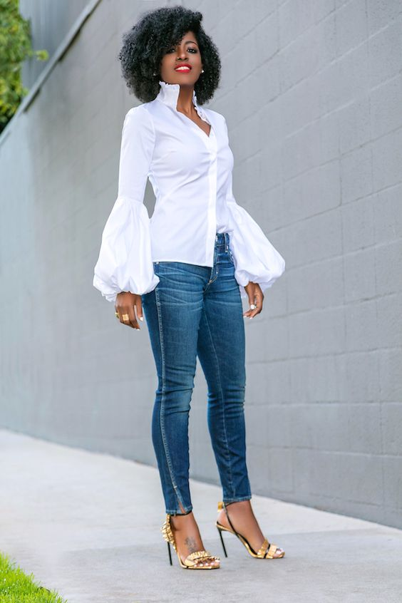 Style Pantry | Structured Blazer + Ruffled Shirt + Amo Twist Jeans