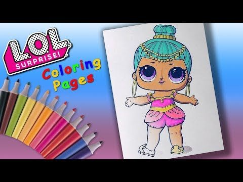 Theater Club Genie Lol Doll Coloringpages Forkids Learncolors With Lol Surprise Youtube Lol Dolls Learning Colors Dolls