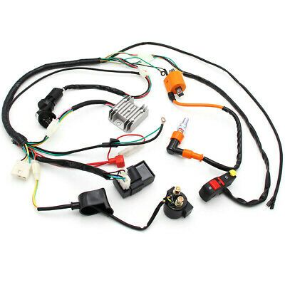 Ebay Advertisement Electric Wiring Harness Wire Loom Cdi Stator Kit For 150cc 200cc 250cc Atv Quad Atv Quads Atv Go Kart Accessories