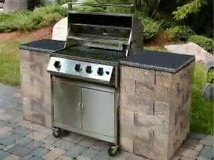 How to build a bbq grilling station or grill surround for Outdoor cooking station ideas