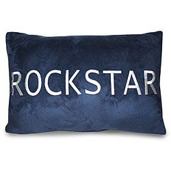 RockStar Embroidered Decorative Pillow