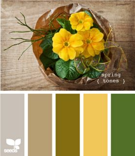 white brown yellow green