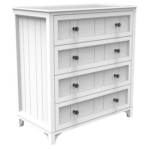 Ducduc Stonington Modern White 4 Drawer Dresser In 2020 Dresser Drawers Changing Table Dresser 4 Drawer Dresser