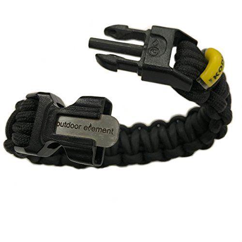 Outdoor Element Kodiak Survival Bracelet Fire Starter Survival