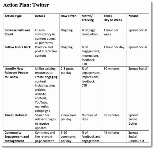 Marketing Action Plan Template Excel Best Of 4 Step Plan To A Succes Social Media Marketing Plan Social Media Strategy Template Marketing Strategy Social Media