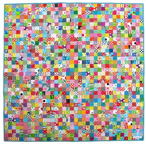 Postage Stamp Quilt | Craft Ideas | Pinterest | Postage Stamp Quilt