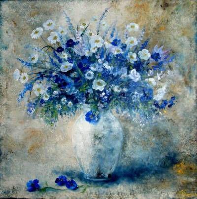 Extrêmement Bouquet fleurs bleues - fleuriste bulldo ZH51