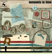FREE Digital Scrapbooking Kit - Moments In Time