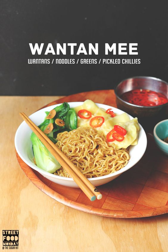 Wantan Mee = saucy noodles / silky wantans / tender greens / pickled ...