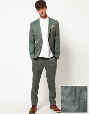 ASOS Skinny Fit Suit. with grey vest and shirt, cranberry tie