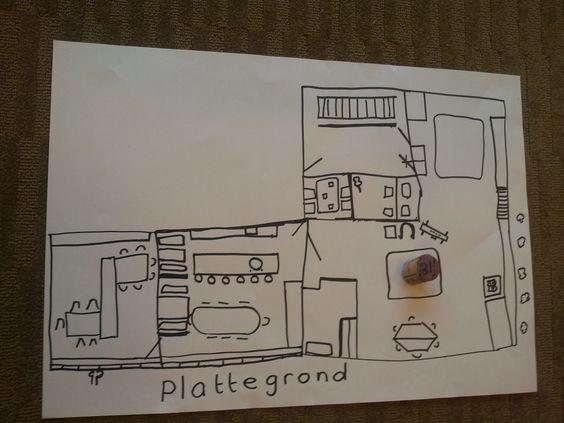 Op Pinterest vond ik een foto van een groepsplattegrond met een pepernootje er op . De pepernoot op de plattegrond geeft aan waar er in de klas een echte pepernoot is verstopt. Wie weet waar de pep...