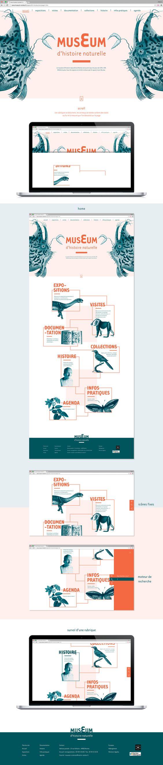 Manon Moreau web design // playful contrast colours