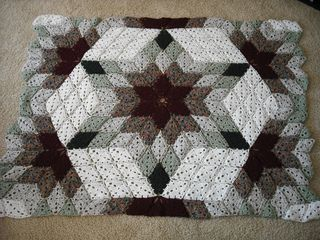 Crochet blanket that looks like a quilt