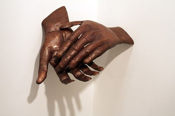 """Respite by Avery Lucas  2012  Copper, brass, and steel  15"""" x 25"""" x 20""""  hand formed and etched"""