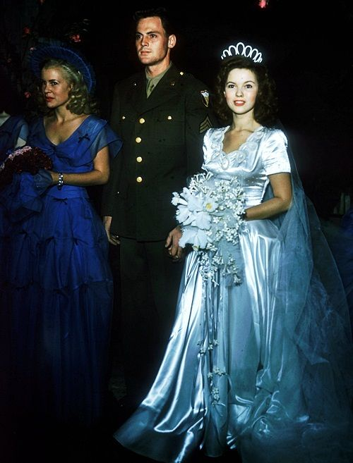 Shirley Temple marries John Agar on September 19, 1945, when Temple was 17 years old!