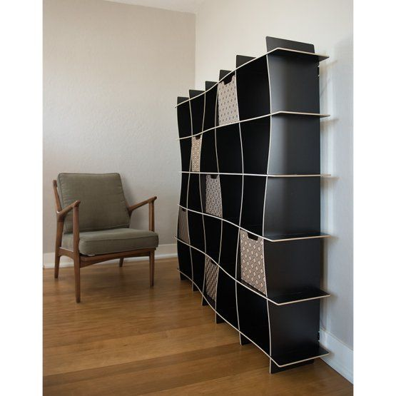Sprout 25 Cube Wave Modern Bookcase Modern Shelving Modern Bookcase Bookcase Storage