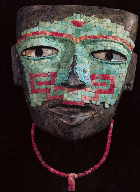 Masque en turquoise de Teotihuacán.