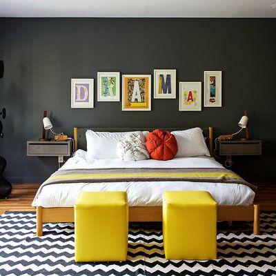Cor do mês: atreva-se com o preto/black bedrooms