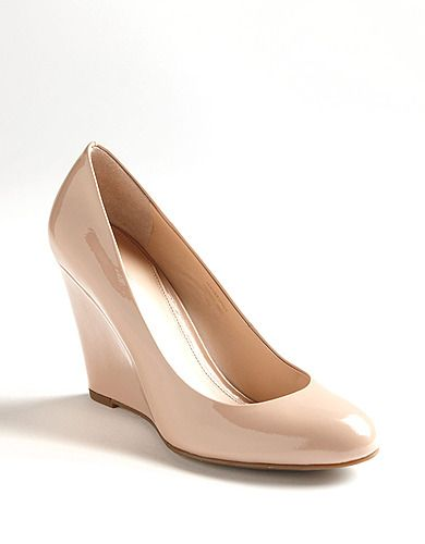 A nude heel goes with everything, the wedge and round toe make ...