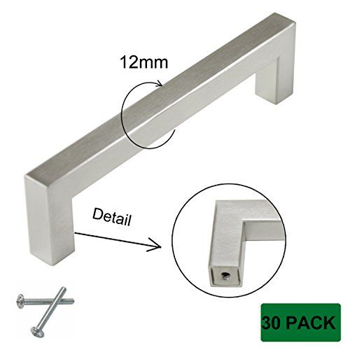 OHOME Commercial Cabinet Handles 10 Pack Brushed Nickel Kitchen Cupboard Drawer