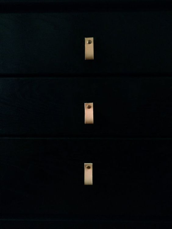 Tira de cuero cajón aparador gabinete manijas de la por LeatherEU