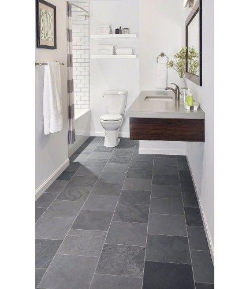 Montauk Blue 6x24 Gauged Gray Tile Bathroom Floor Slate Bathroom Tile Slate Bathroom Floor