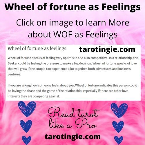 Wheel Of Fortune Tarot Card As Feelings Justice Tarot Tarot Card Meanings Wheel Of Fortune Tarot