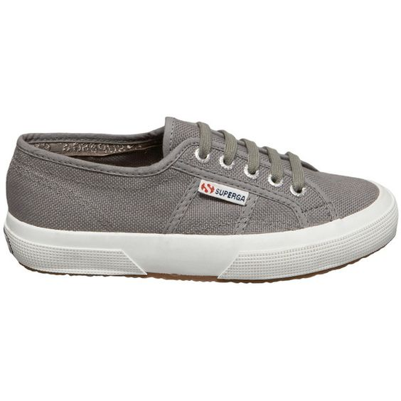 Superga Classic Sneaker ($65) ❤ liked on Polyvore featuring shoes, sneakers, grey sage, canvas sneakers, laced up shoes, lace up shoes, superga sneakers and superga shoes