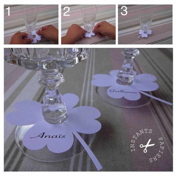 Tuto marque place | PAPIER | Pinterest | Printable place cards, Markers and Places