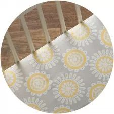 Your little one will love how soft this crib fitted sheet feels. Tree Dot print that coordinates perfectly with our Mix and Match Collections. Made with 100% cotton. Extra deep for secure fit.