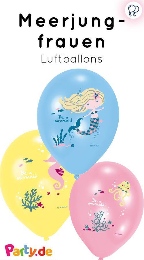 Ballons Im Meerjungfrauendesign Mehr Party Deko Gibt Es Auf