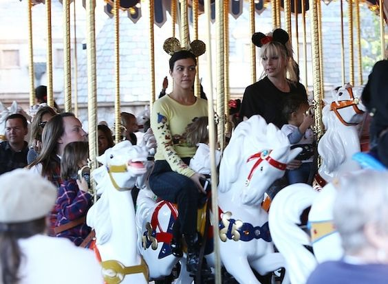 Kourtney Kardashian - Disneyland with Mason and Penelope Disick
