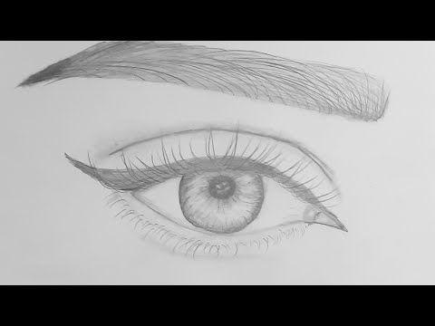 تعليم الرسم بالرصاص رسم العين بطريقة سهلة ومبسطةhow To Draw Eyes For Bignners Pencil Sketch Yo Easy Eye Drawing Cool Pencil Drawings Easy Drawings Sketches