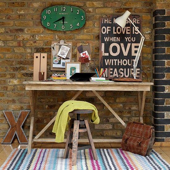 Wohnideen  Arbeitszimmer Home Office Büro - Rustikale Retro Büro zu Hause